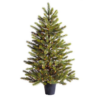 White Pine Potted 7-1/2 ft. Artificial Christmas Tree