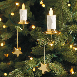 Christmas Tree Set of Six Flameless Candles