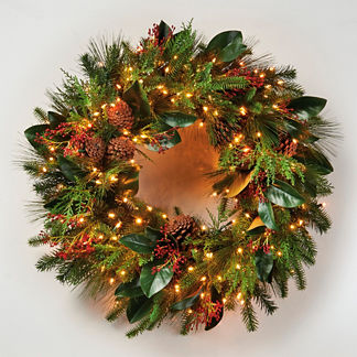 Florist's Choice Pre-lit Wreath