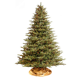 Deluxe Fraser Christmas Tree with Traditional Stand