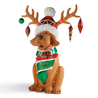 Happy Holidays Fiberoptic Reindog