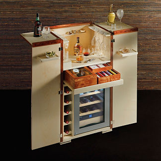Agresti Bar Armoire with Bar Accessories