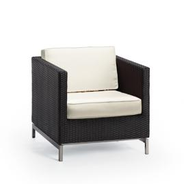 Metropolitan Lounge Chair with Cushions in Panther Finish