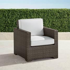 Palermo Balcony Lounge Chair with Cushions in Bronze