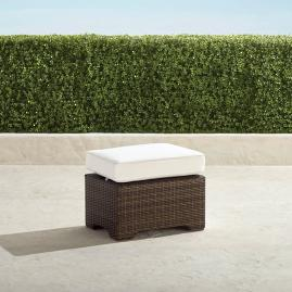 Palermo Balcony Ottoman with Cushion in Bronze Finish