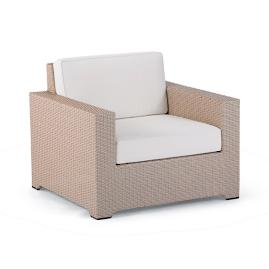 Palermo Lounge Chair with Cushions in Linen Finish