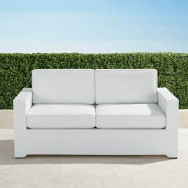 Palermo Loveseat with Cushions in White Finish