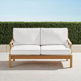 Cassara Loveseat with Cushions in Natural Finish
