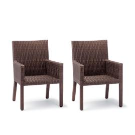 Palermo Dining Arm Chairs in Bronze Finish ,Set