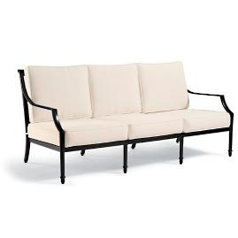 Grayson Sofa with Cushions in Black Finish