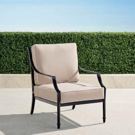 Grayson Lounge Chair with Cushions in Black Finish