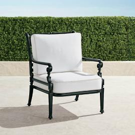 Carlisle Lounge Chair with Cushions in Onyx Finish