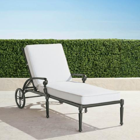 Carlisle Chaise Lounge with Cushions in Slate Finish  sc 1 st  Frontgate : chaise lounge images - Sectionals, Sofas & Couches