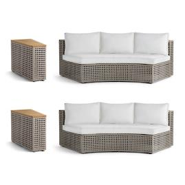Pasadena 4-pc. Sofa Set in Grey Finish