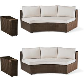 Pasadena 4-pc. Sofa Set in Bronze Finish