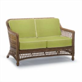 Hampton Loveseat with Cushions in Driftwood Finish