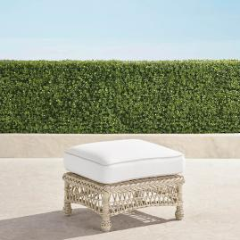 Hampton Ottoman with Cushion in Ivory Finish