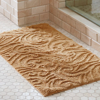 Augustine Sculpted Scroll Bath Rug