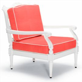 Glen Isle Lounge Chair with Cushions in White