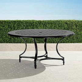"Grayson 60"" Round Dining Table in Black Finish"