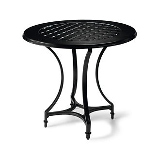 Grayson Round Bar Table in Black Finish