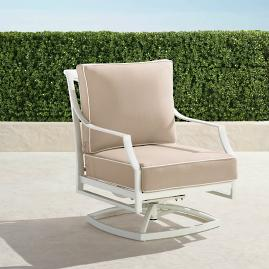 Grayson Swivel Lounge Chair with Cushions in White