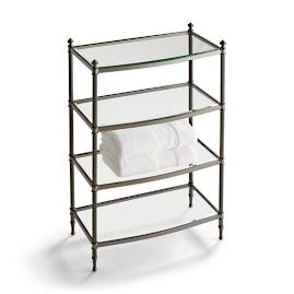 Belmont 4-Tier Etagere - Black Nickel