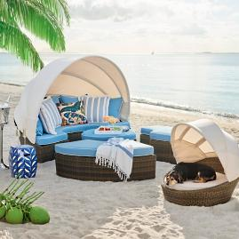 Baleares Five-piece Lounger in Bronze Finish