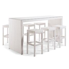 Palermo 7-pc. Bar Set in White Finish