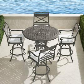 Carlisle 5-pc. High Dining Set in Slate Finish