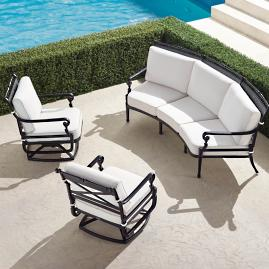 Carlisle 3-pc. Curved Sofa Set in Onyx Finish