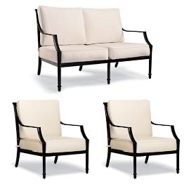 Grayson 3-pc. Loveseat Set in Black Finish