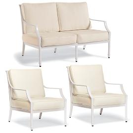 Grayson 3-pc. Loveseat Set in White Finish