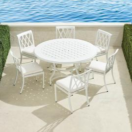 Grayson 7-pc. Round Dining Set in White Finish