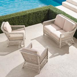 Hampton 3-pc. Loveseat Set in Ivory Finish