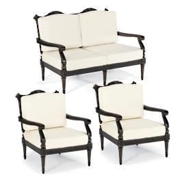 Glen Isle 3-pc. Loveseat Set in Midnight Gold