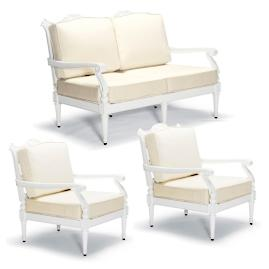 Glen Isle 3-pc. Loveseat Set in White Finish