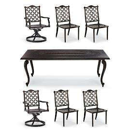 Glen Isle 7-pc. Rectangular Dining Set in Midnight