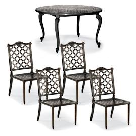 Glen Isle 5-pc. Round Dining Set in Midnight