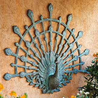Peacock Outdoor Wall Art