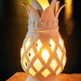 Ceramic Pineapple Lantern