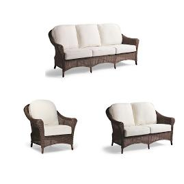 Charleston Loveseat with Cushions in French Roast Finish