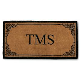 Bellair 3-Letter Monogrammed Coco Door Mat