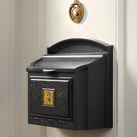 Monogrammed wall mount mailbox