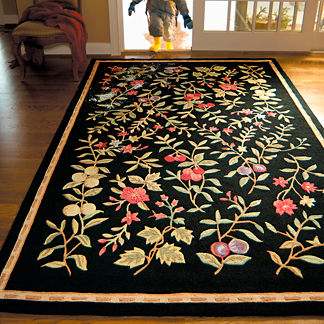 Morning Gardens Hand-Hooked Rug