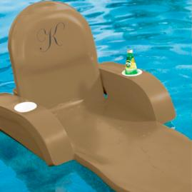 Monogrammed Pool Chaise