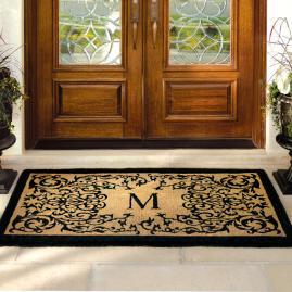 Hudson Monogrammed Door Mat Frontgate