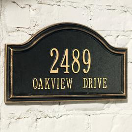 Oakview Address Plaques