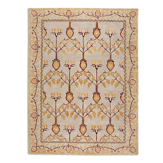 Anatolia Blaize Wool Area Rug in Ivory/Gold
