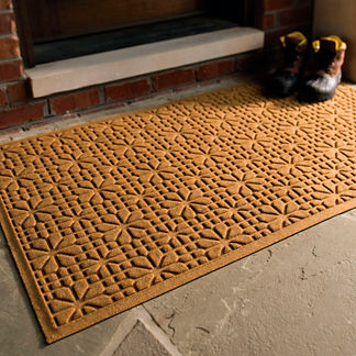 WATER & DIRT SHIELD ™ Stained Glass Door Mat